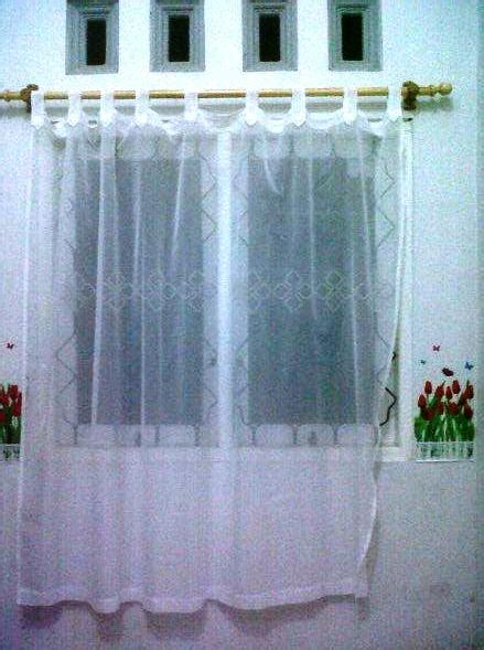 Vitras Gorden jual vitras vitrage gorden transparan dasar putih