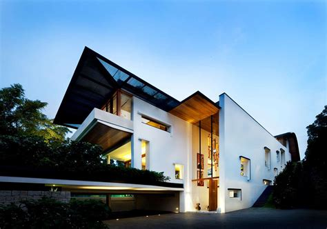 Modern Architecture Home by The Tropical Dalvey Road House In Singapore By Guz