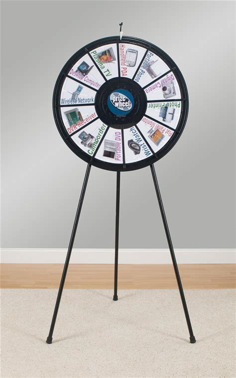 Spinning Game Wheel Adjustable Legs For Floor Or Tabletop 12 Slot Prize Wheel Template