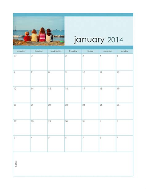 2014 editable monthly calendar template calendar
