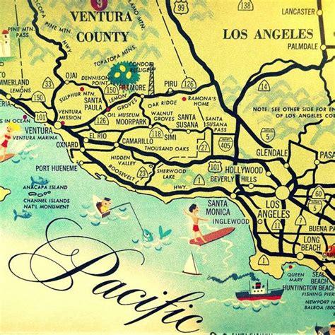 california map beverly illustrated california map california map santa