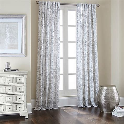 white backed curtains noelle rod pocket back tab 84 inch window curtain panel in