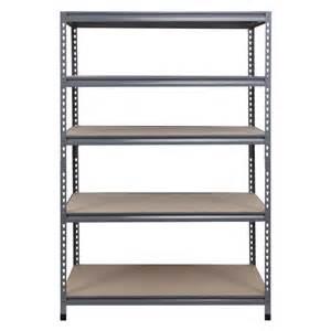 Garage Shelving Systems Lowes Workpro 72 In H X 48 In W X 24 In D 5 Tier Steel