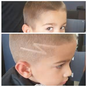 Lightning Bolt Hair Haircut With Lightning Design Hairstylegalleries