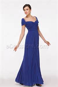 royal blue mother of the bride dress with sleeves