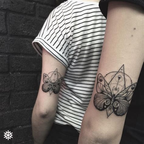 geometric butterfly tattoo geometric blackwork butterfly allantattooer