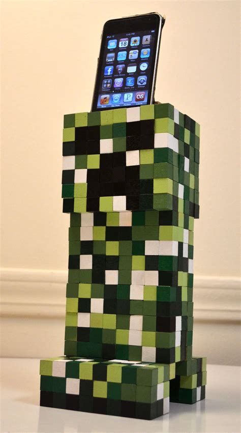 minecraft creeper cell phone dock  steps  pictures