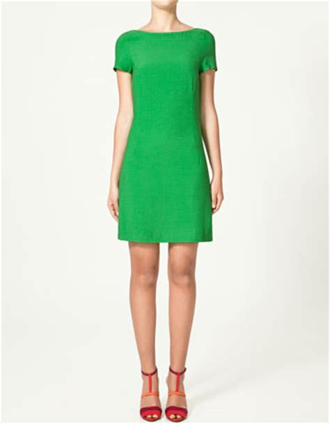 zara green boat neck dress green and gold suede peep toes from zara gt shoeperwoman