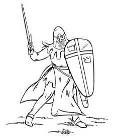 knight tournament colouring pages