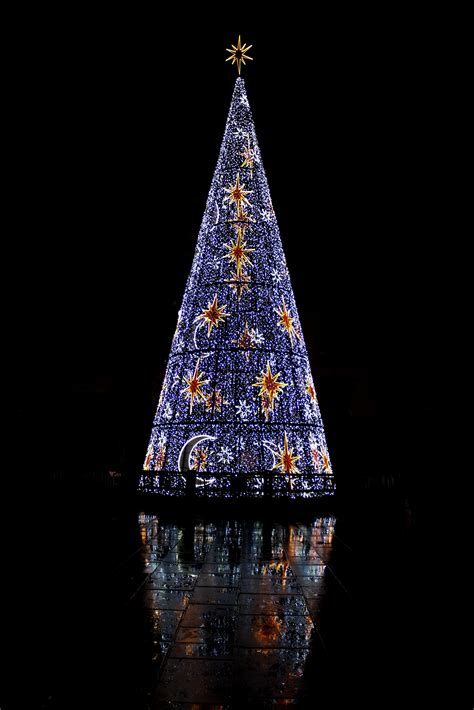 christmas light tree tower christmas decore