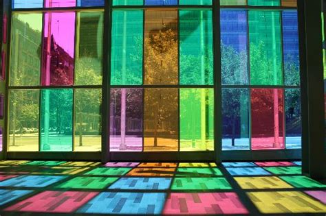 colored window colored window panes reflected onto floor picture of