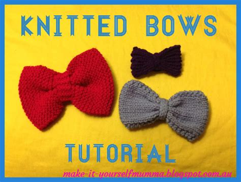 knitted bow pattern free make it yourself mumma knitted bows tutorial free patterns