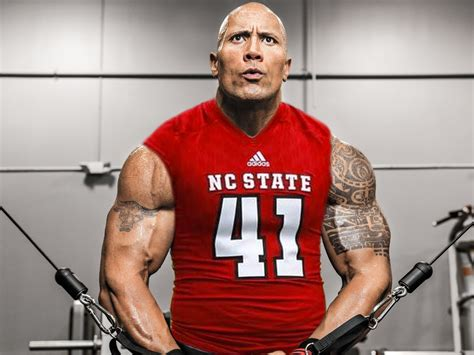 the rock the rock is totally football for nc state next year itb insider