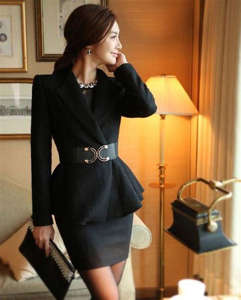 Hem Korean Style korean style color flared hem wool coat for