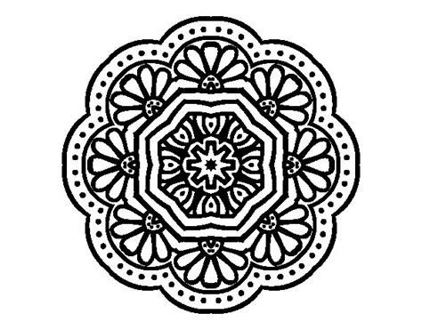 imagenes mandalas arabes dibujo de mandala mosaico modernista para colorear