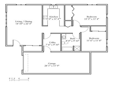 cottage floor plans free small 2 bedroom cottage 2 bedroom cottage floor plans