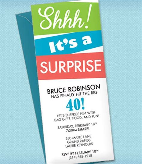 diy surprise party invitation template from