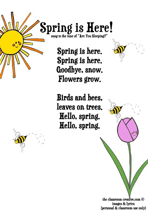 poem for child activities free poem for april