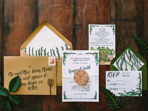 Garden Wedding Invitation Ideas Rustic Watercolor Garden Wedding Invitations