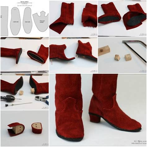 how to make shoes for how to make doll boot step by step diy tutorial