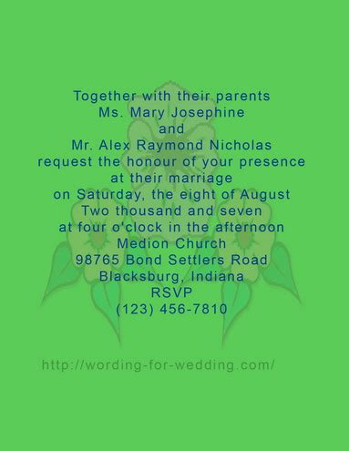 difference between day and evening wedding invitations tips and sle to write wedding invitation wording by
