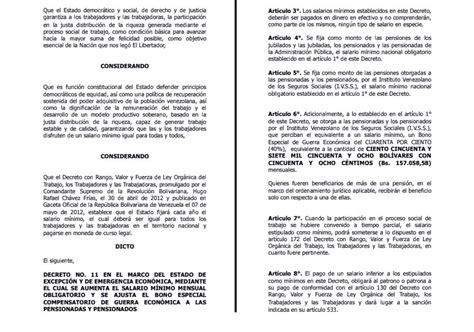 nuevo aumento del salario minimo en venezuela fue oficializado el nuevo aumento del salario m 237 nimo desde