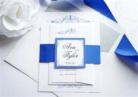 royal blue wedding invitation sets royal blue wedding invitation sle set 2579080 weddbook