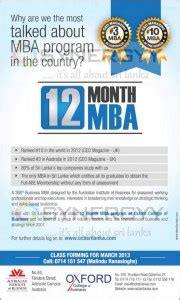 Top 12 Month Mba Programs by 12 Month Mba Programme For Oxford College Of Business