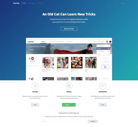 Elite Startup Landing Page Template Start Page Template