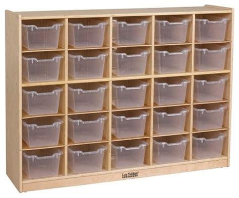 ecr4kids 25 tray storage cabinet with clear bins