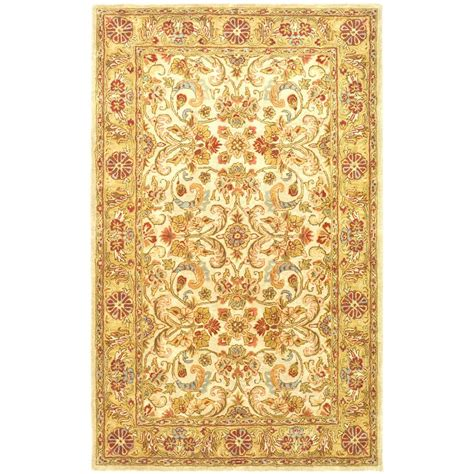 Area Rug 6 X 9 Safavieh Classic Gray Light Gold 6 Ft X 9 Ft Area Rug Cl324b 6 The Home Depot