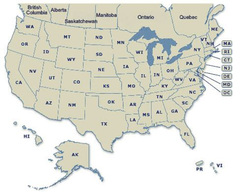 map of usa and canada with states and cities maps of united states and canada