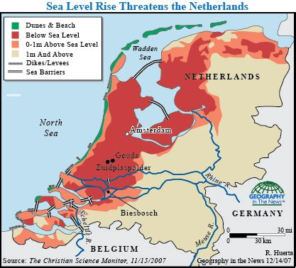 netherlands map below sea level geography in the news polder salvation national