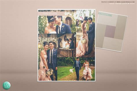 Wedding blog board collage template ~ Flyer Templates on