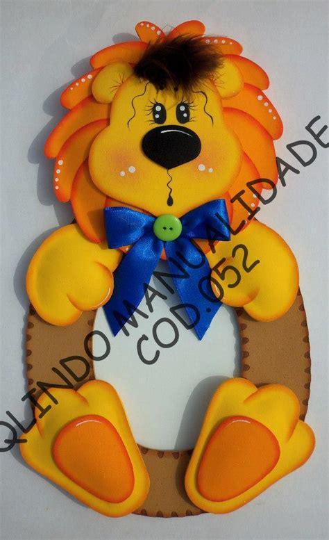 molde para goma eva de leon portaretratos le 243 n en goma eva manualidades en goma eva