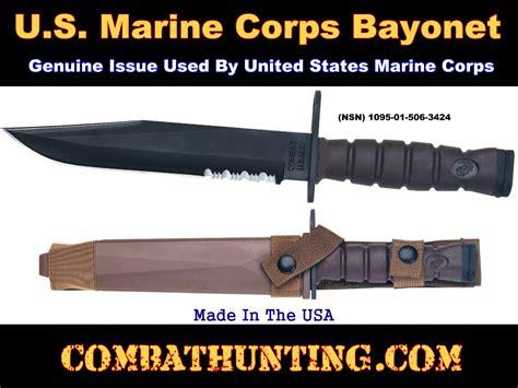 usmc bayonet 3275 mk ontario usmc marine corps bayonet with molle