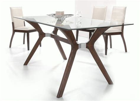 Glass Top Dining Table And Chairs Stylish Wooden And Clear Glass Top Leather Dining Set Furniture Brownsville Chlui