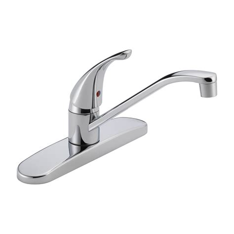 delta single hole kitchen faucet delta faucet p110lf core single handle kitchen faucet