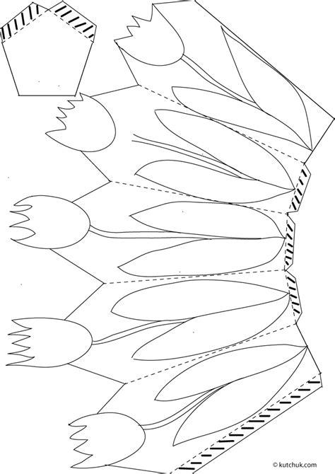 Tas Rabbit Flower easter craft printables tulip basket print the tulip