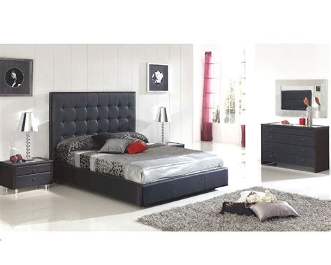 black contemporary bedroom set modern bedroom set sevilla in black made in spain 33b261