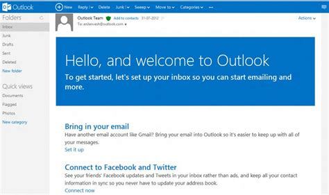 email microsoft microsoft outlook email features tech knol