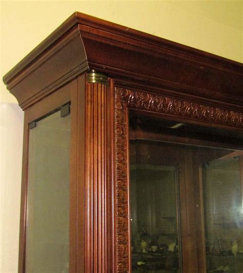 wood and glass display cabinet large wood and glass display cabinet w glass glas