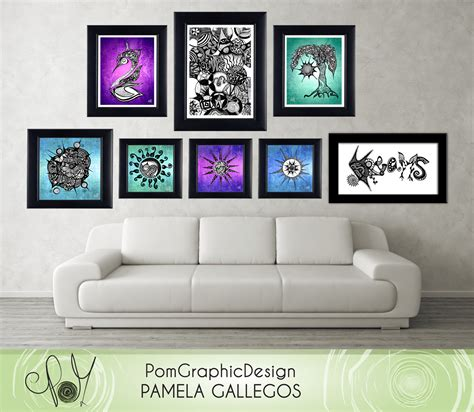 printable art diy printable wall art poster diy 2 digital illustrations on