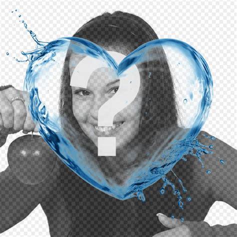 cornice a forma di cuore cornice per foto con forma di cuore con un getto dacqua