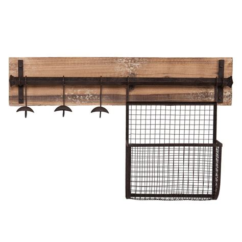 Wall Mounted Coat Rack by Southern Enterprises Distressed Fir Wall Mounted Coat Rack