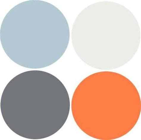 color combinations with orange modern interior design 9 decor and paint color schemes that include gray color