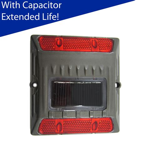 solar capacitor led aluminum alloy solar road stud path deck dock led light with capacitor ebay