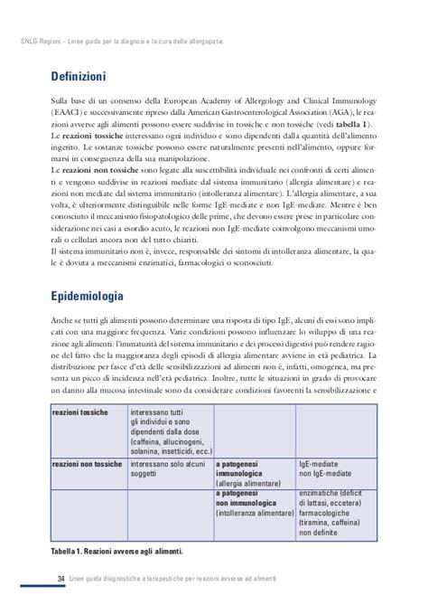 alimenti contenenti lattice 97 2017 linee guida per la diagnosi e la cura delle