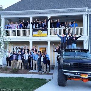 dominion house odu sigma nu at old dominion university suspended over vulgar signs daily mail online