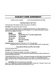 subject verb agreement practice sle free